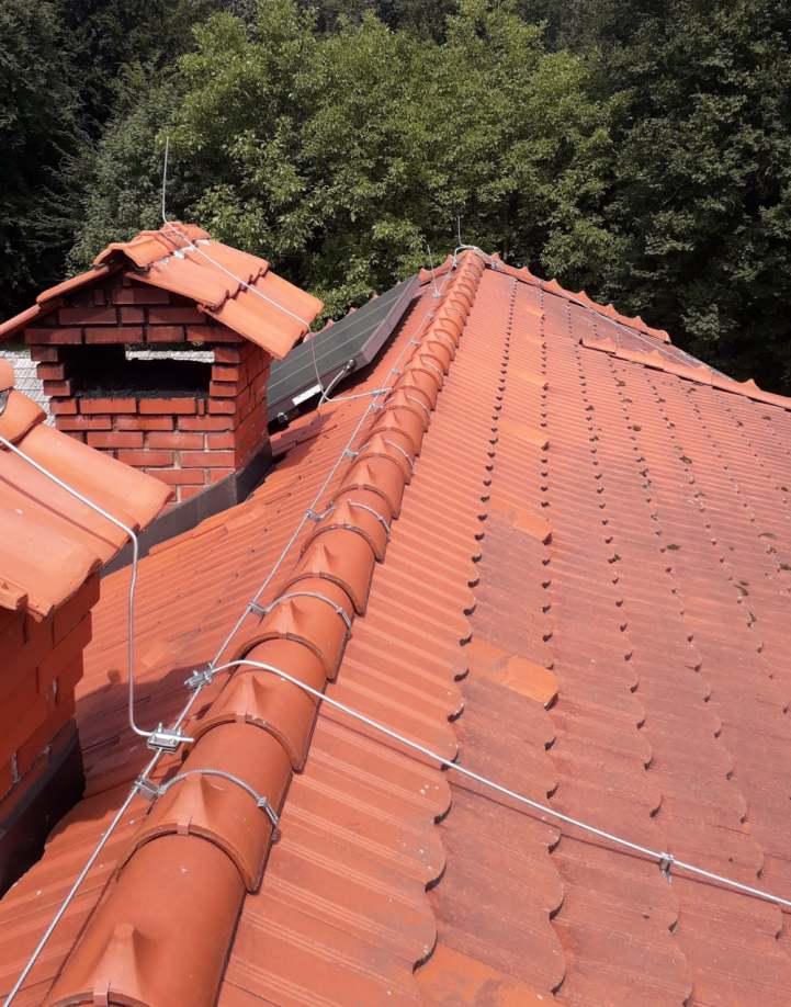 strelovod na strehi
